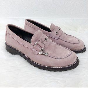 DONALD J. PLINER Pink Loafer with Dog Bone Charm